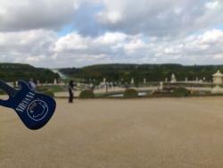 Pohled na zahrady Versailles.